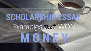 Example Of Scholarship Essay Scholarship Essay Examples That Won Money The Scholarship