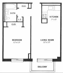 One Bedroom Apartment Plan 2 Bed Apartment Floor Plans Free Online Image  House Plans Set