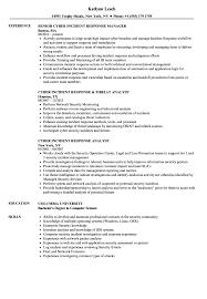 Cyber Incident Response Resume Samples | Velvet Jobs