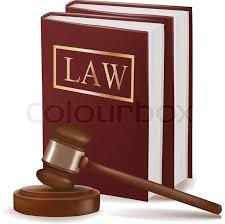 judge gavel and law books photo realistic vector vector