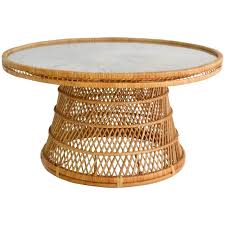 coffee table round rattan ottoman starrkingschool wicker woven coolest with and