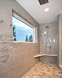 Rustic but Modern tile - Walk in Shower contemporary-bathroom