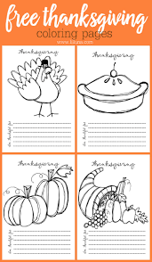 Free Thanksgiving Coloring Pages A Cute