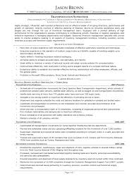 Best Ideas Of Warehouse Supervisor Resume Sample On Transportation Resume  Examples