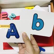 Spelling Game học đánh vần chữ cái tiếng Anh đồ chơi gỗ Simbaba 52 bộ thẻ  ghép chữ bằng gỗ cho bé giá cạnh tranh