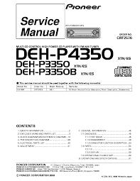 pioneer avh p6300bt p6350bt service manual pioneer