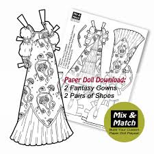 Small Picture Medieval Princess Gowns Mix Match Digital Paper Doll