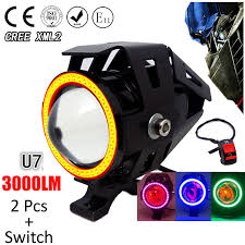 <b>1 pair 125W Motorcycle</b> Headlight Motorbike spotlight 3000LM ...