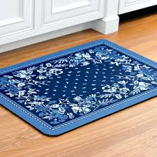 blue kitchen rugs surprising design rug cushioned mat solid navy blue kitchen rugs