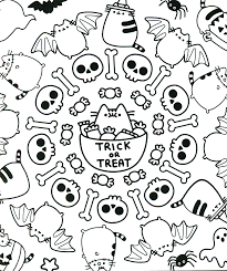 Halloween Coloring Page Pusheen The Cat Get Coloring Pages