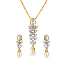 tanishq 18kt gold pendant set for women 5021171hbaba52