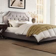 Full Upholstered Bed Frame Bedroom Bedroom Furniture Bed Frame Platform And Square Tufted