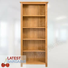 details about 5 tier wooden bookcase book shelf furniture storage timber oak display unit