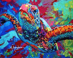 sea turtle painting sea turtle by maria arango