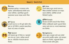 Nepali Rashifal Nepali Horoscope 2076 2019