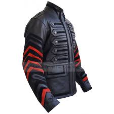 motorcycle mens black leather military jacket