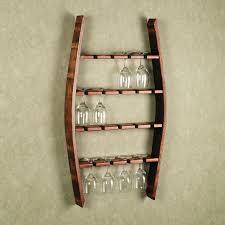 wall mounted wine glass rack wine glass rack from wine barrel wall mounted diy