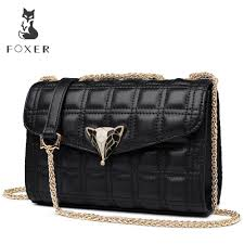 Original Design Bags Foxer Brand Personality New Design Original Irregular Women Shoulder Bags Fashion Leather Crossbody Bag