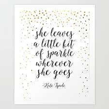 Quotenursery Girlsshe Leave A Little Sparkle Wherever She Goesquote Printsnursery Artchildren Art Print