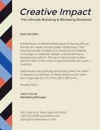 Letterhead Design Online Creative Letterhead Maker Create Custom Letterhead Designs Online