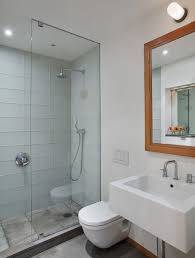View in gallery Sleek modern bathroom ideal for the contemporary apartment  space