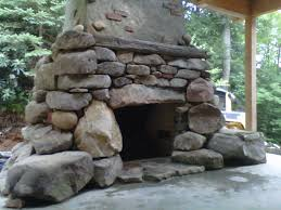 image of patio fireplace fire pits in frederick md pooles stone garden