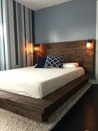 floating bed frame full diy with led lighting ideas floating bed
