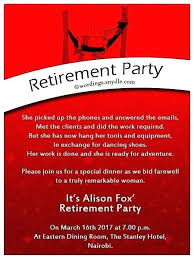 Invitation For Party Template Fascinating Examples Of Military Retirement Invitations Invitation Wording For
