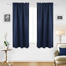 Amazoncom Deconovo Room Darkening Curtain Rod Pocket Curtain Panel
