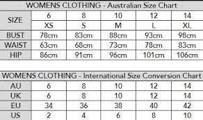 Australian Mens Clothing Sizes Chart 2019