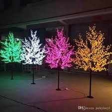 xmas lighting decorations. Wonderful Lighting Wedding Xmas Led Cherry Blossom Trees Light 08m 15m 2m Available Home  Outdoor Garden Landscape Decoration Lamp Multi Colors House Decorations Houses  On Lighting