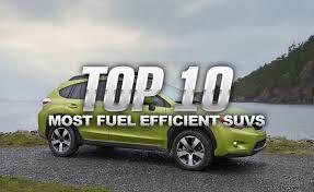 mid size suv best gas mileage top 10 most fuel efficient suvs autoguide com news