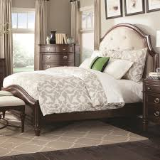 buy sherwood king bed with upholstered headboard by coaster from