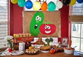 2 Year Birthday Ideas Veggie Tale Party Veggietales 2 Year Old Party In The Usa
