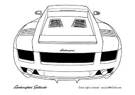 Small Picture Lamborghini Gallardo rear coloring page LetMeColor