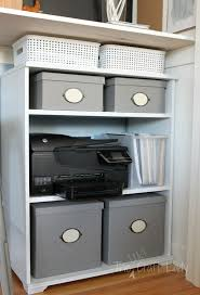 closet office. A Booksheld Under Bar-height Desk Creates Plenty Of Storage Closet Office