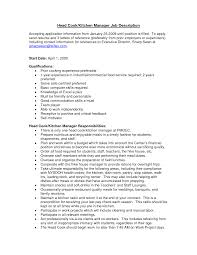resume samples for kitchen manager com resume samples for kitchen manager