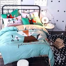 twin cotton duvet cover cotton duvet covers cartoon fox dog parrot bedding set queen twin size