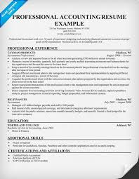 Professional Accountant Resume Professional Accounting Resume Resume Samples Across All