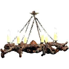world market gray wood and iron valencia chandelier reclaimed grey rustic gnarled with six lights for grey wood bead chandelier