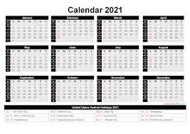 Large space for notes included; Free Printable 2021 Calendar With Holidays As Word Pdf Free Printable 2021 Monthly Calendar With Holidays