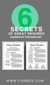 17 best ideas about resume writing resume resume forbes article by jon youshaei 6 secrets of great resumes backed by psychology brought to