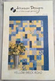 16 best Quilt Patterns images on Pinterest | Meditation, Quilt ... & Fat Quarter Quilt Pattern - Yellow Brick Road by Atkinson Designs ATK 126 Adamdwight.com