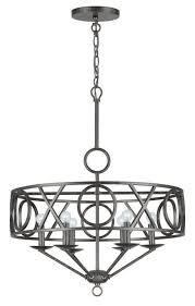 drum shade chandeliers