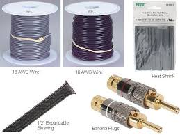 speakers cables. low-inductance diy hi-fi speaker cables speakers r