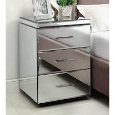 contemporary mirrored chest of drawer and bedside table r i o nightstand 3 mirror furniture ikea next uk argo b m australium ireland very