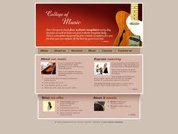 College Templates Free Html Css Templates For Downloading College Of Music