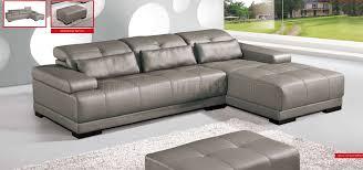 grey genuine leather sectional sofa w
