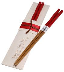 Asian chopsticks personalized wedding