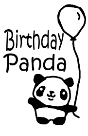 My Panda Bear Is One And